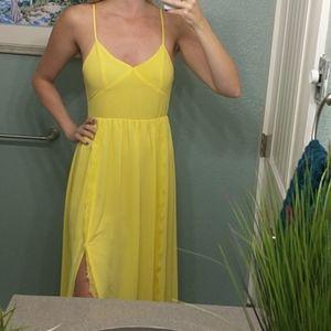 Yellow Boho Maxi Dress